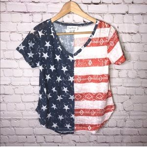 4th of July American Flag T-shirt